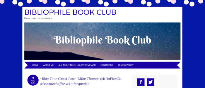 Unforgivable Blog Tour – Guest Post Bibliophile Book Club: The Writing Process